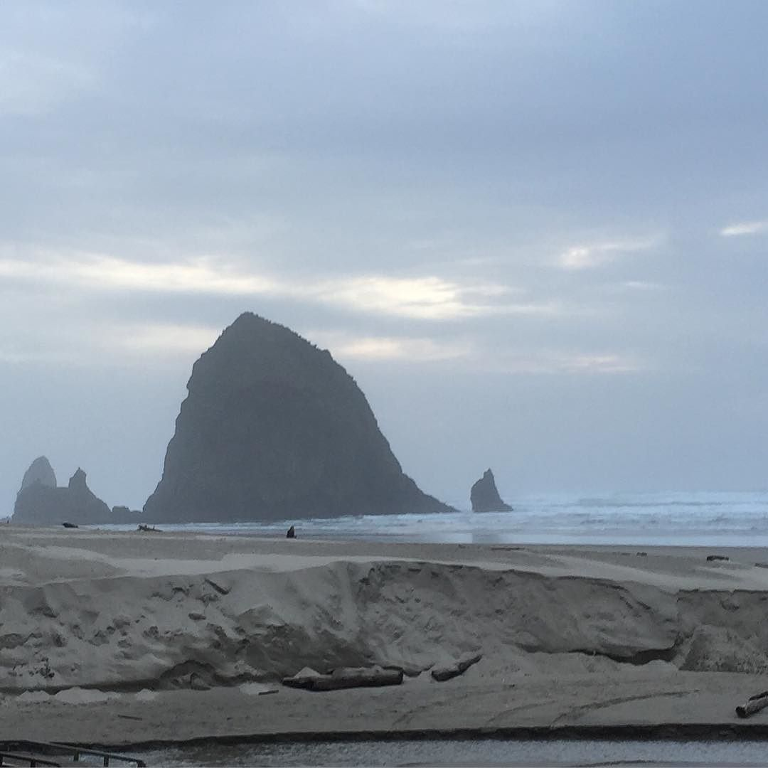 Stephanie Inn Dining Room: Haystack Rock. 235-foot. Reached By Land At Low Tide