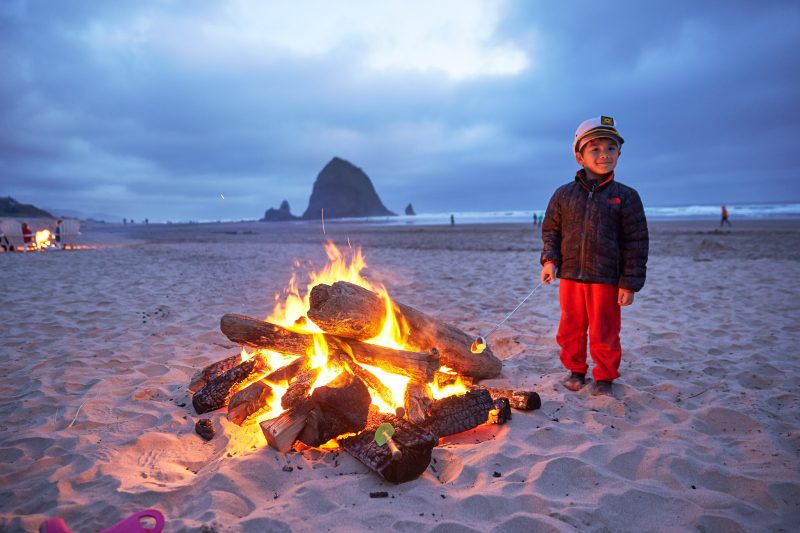 Bonfire at the beach.