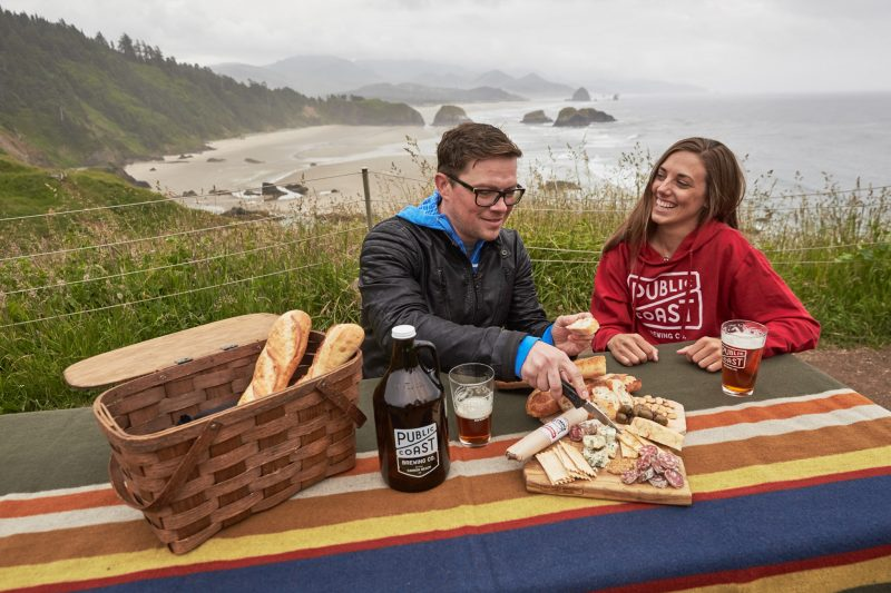 Picnic on the Oregon Coast.