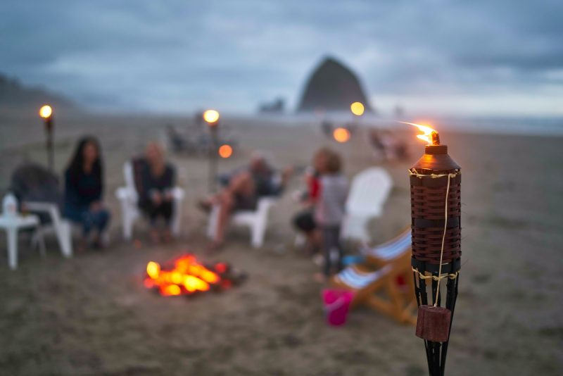 Enjoy a family bonfire on the beach