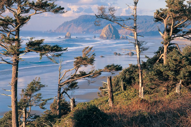 Cannon Beach, Oregon view point.